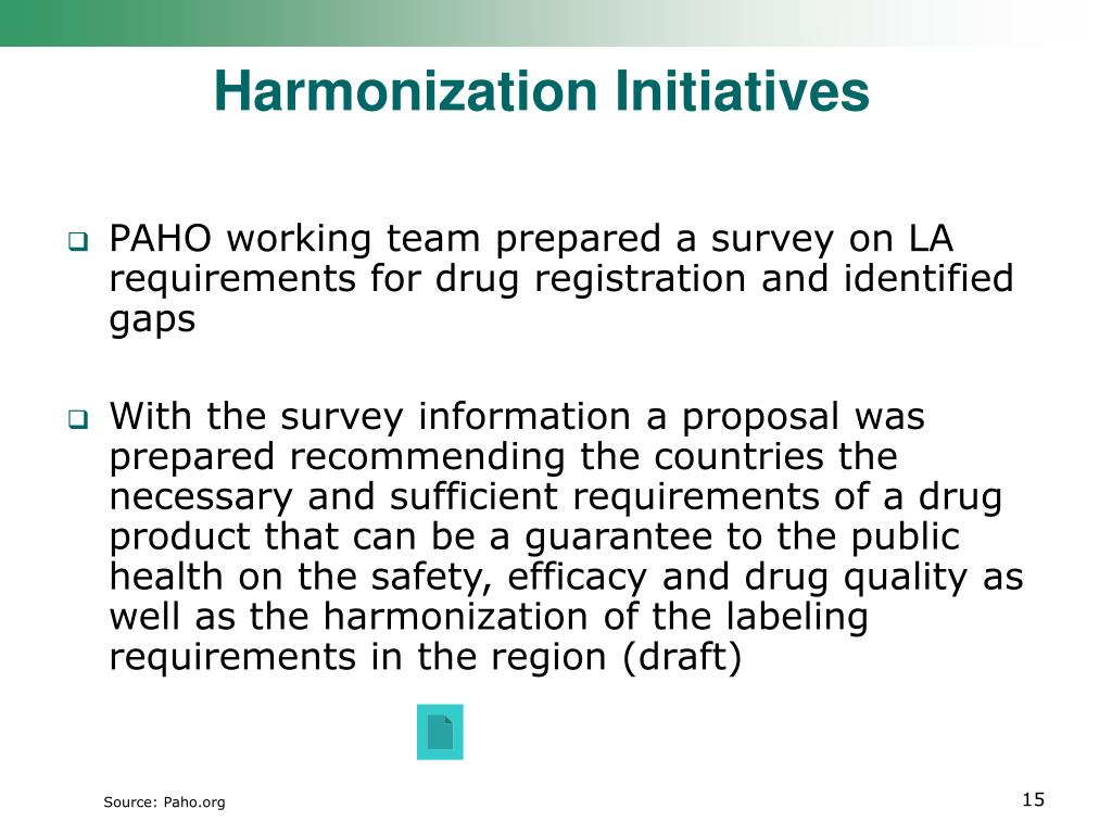 Harmonization Initiatives