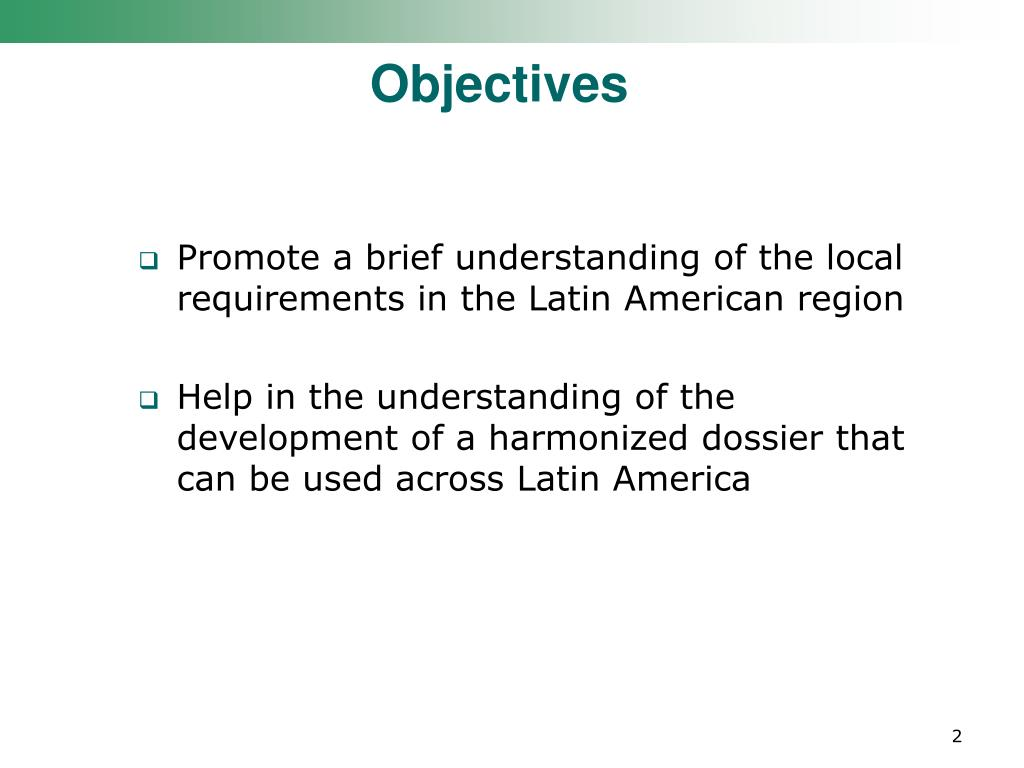 Promote a brief understanding of the local requirements in the Latin American region