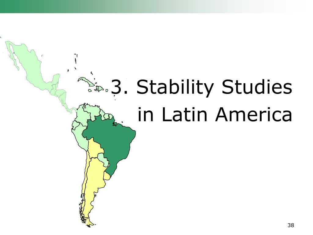 3. Stability Studies