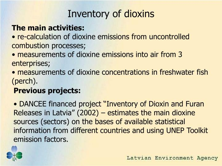 Inventory of dioxins