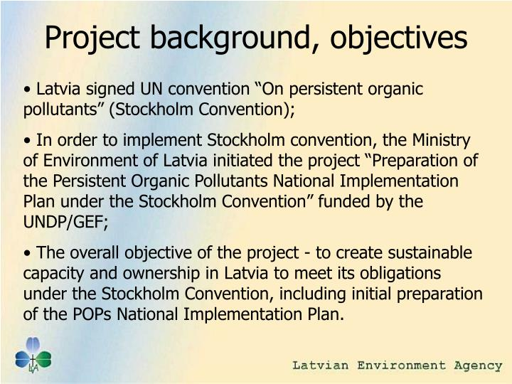 Project background, objectives