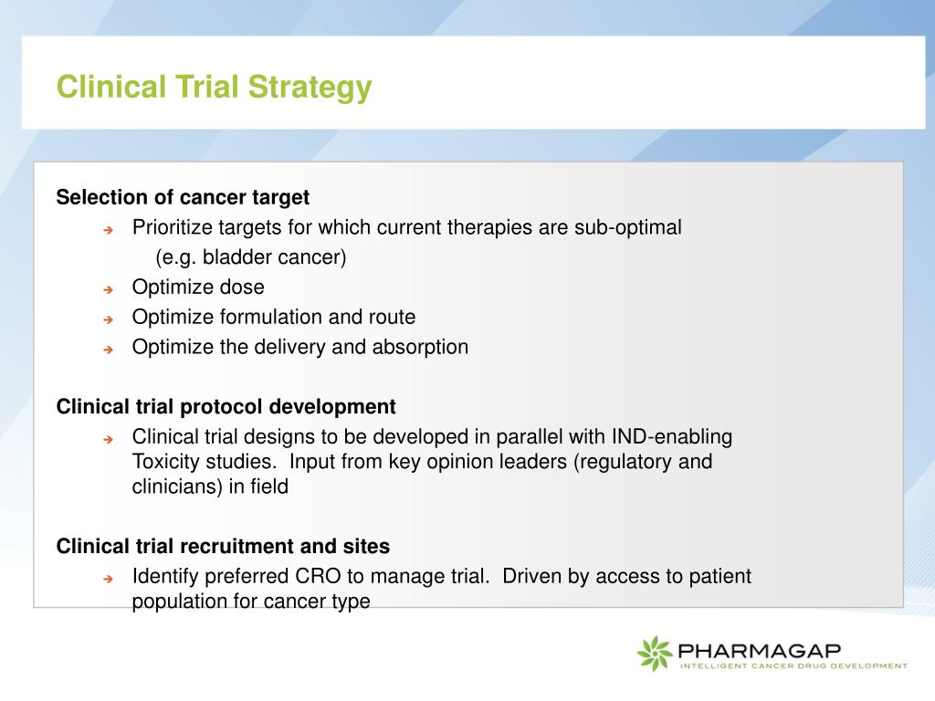 Clinical Trial Strategy