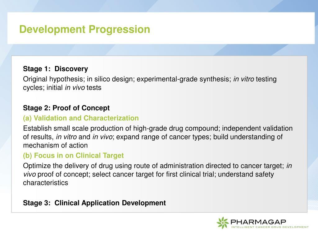 Development Progression