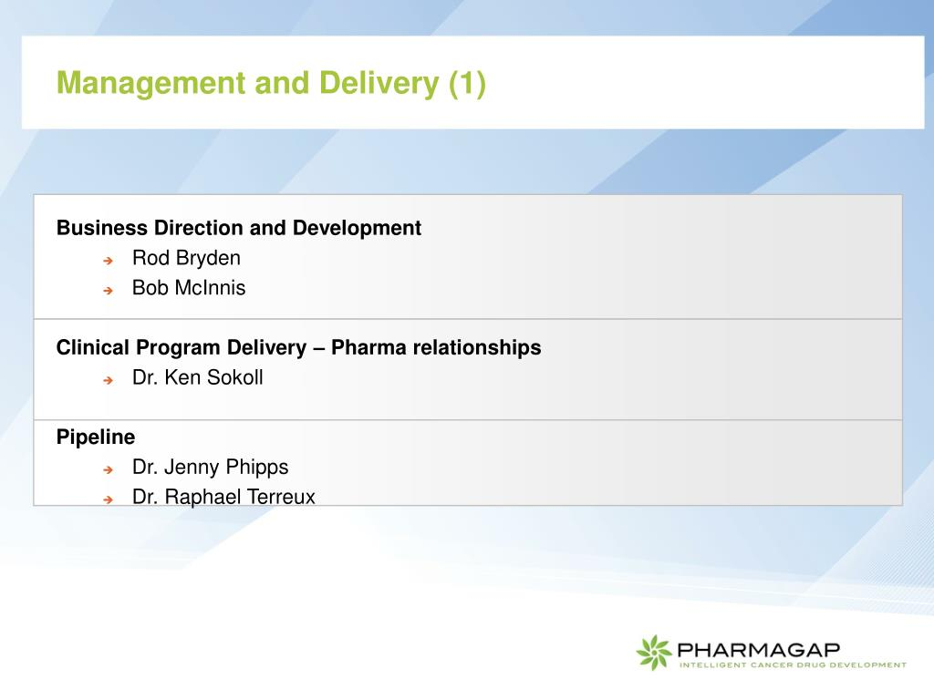 Management and Delivery (1)