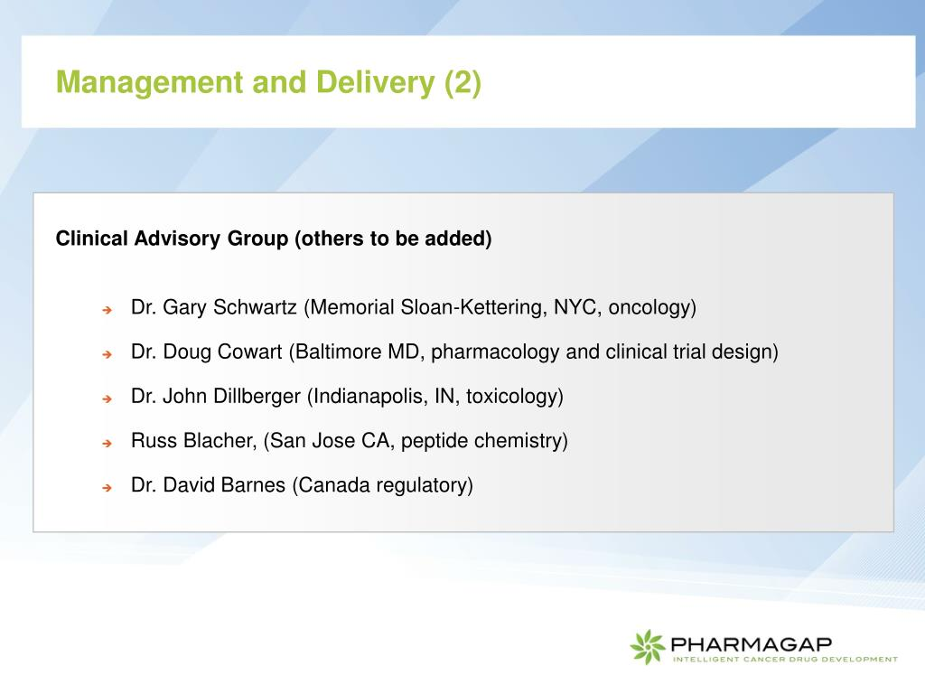 Management and Delivery (2)