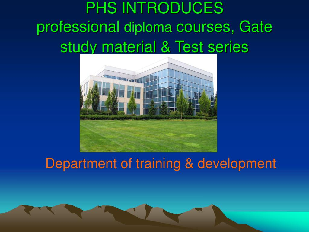 PHS INTRODUCES