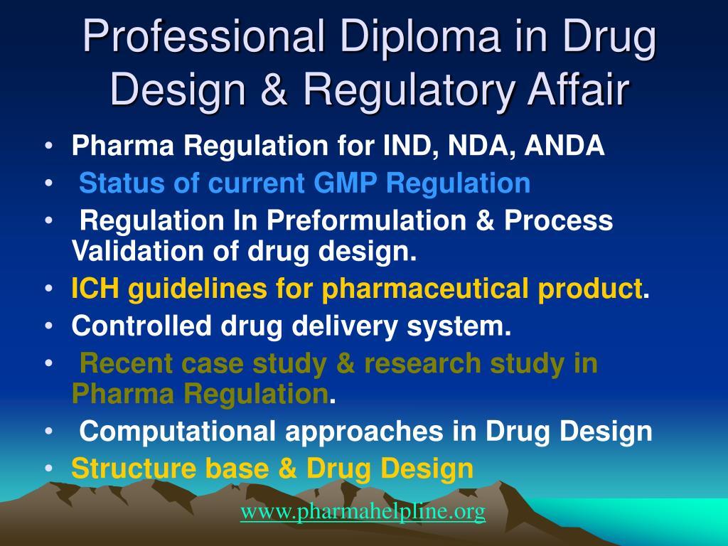 Professional Diploma in Drug Design & Regulatory Affair