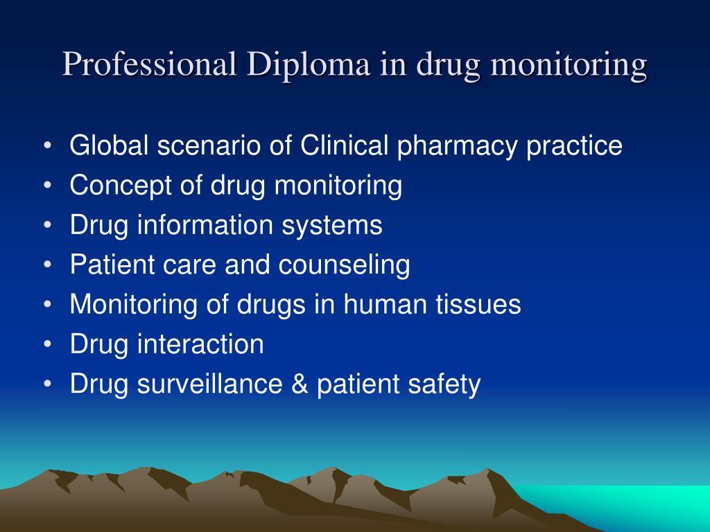 Professional Diploma in drug monitoring