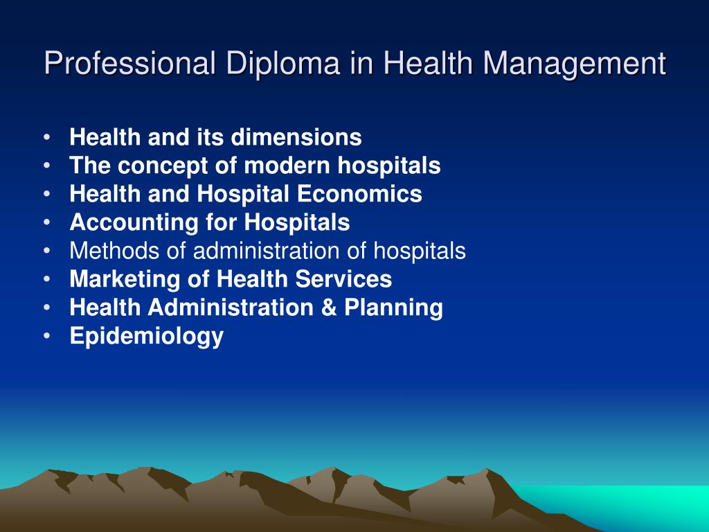 Professional Diploma in Health Management