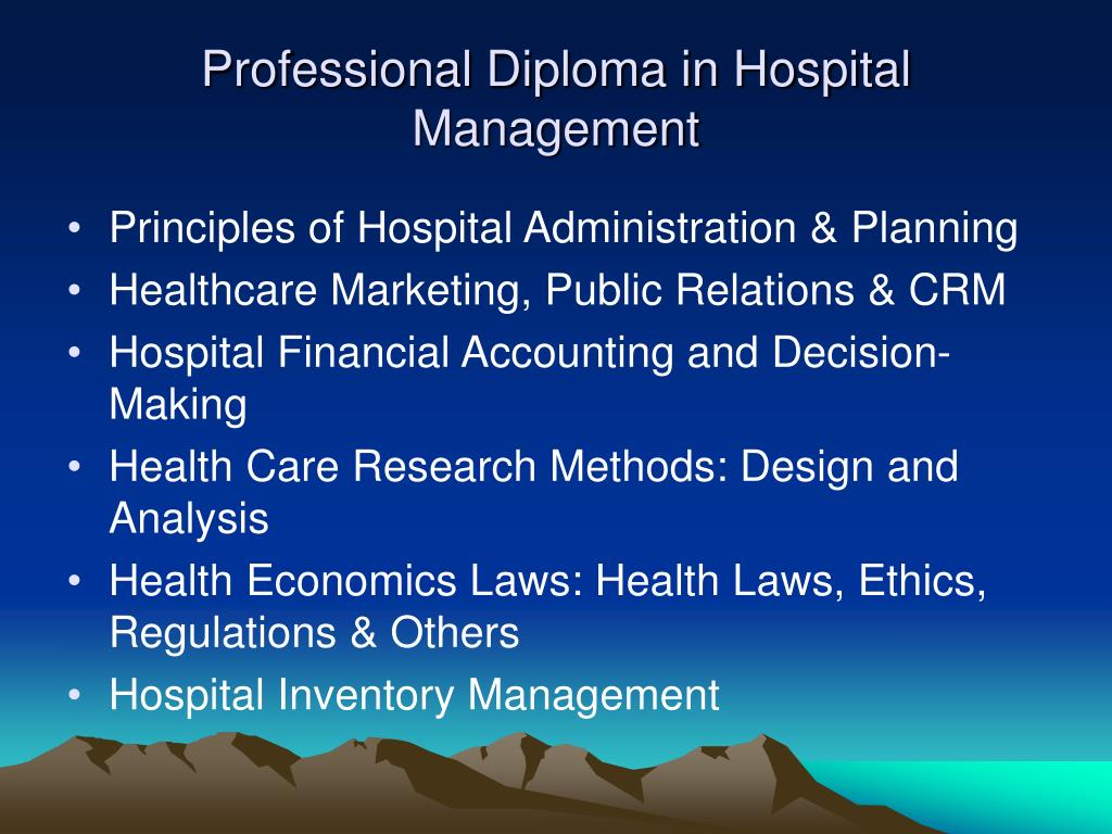 Professional Diploma in Hospital Management