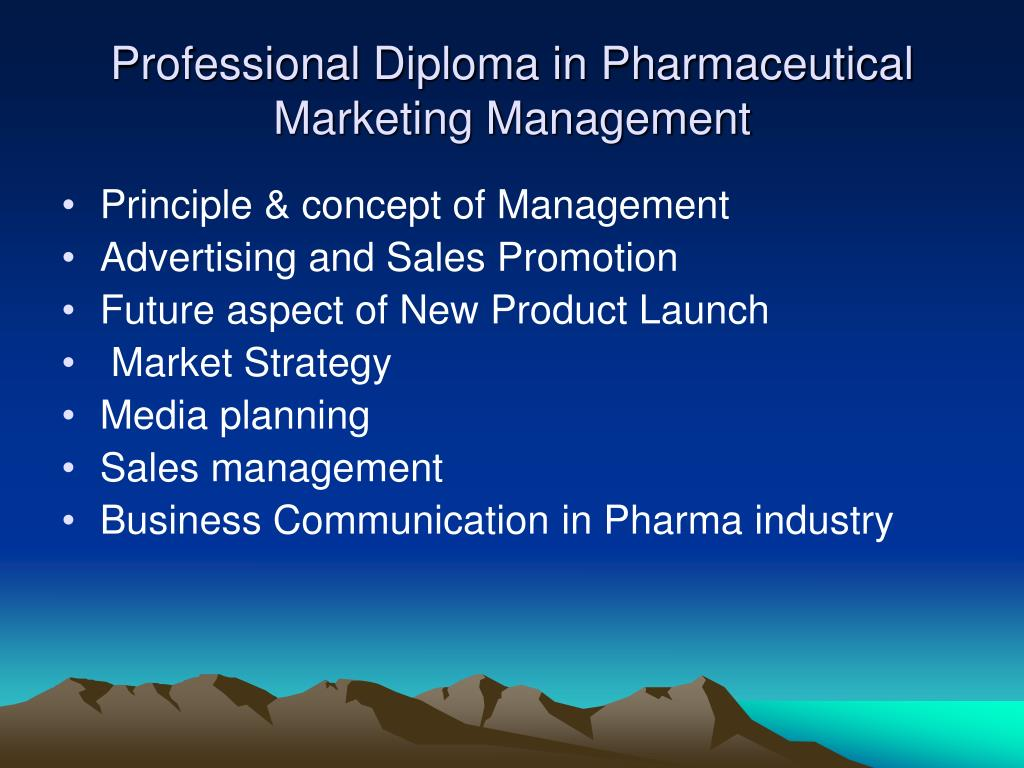 Professional Diploma in Pharmaceutical Marketing Management