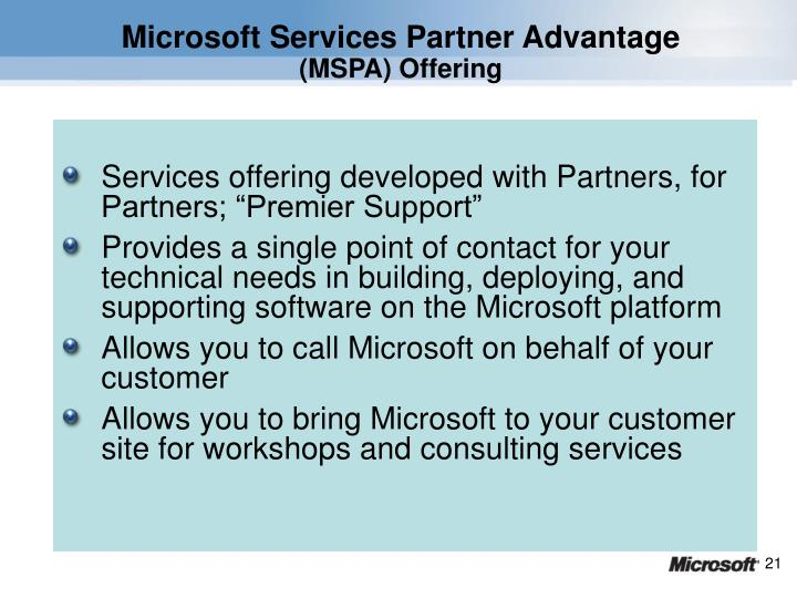 Microsoft Services Partner Advantage