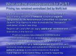 what are the consequences for p r