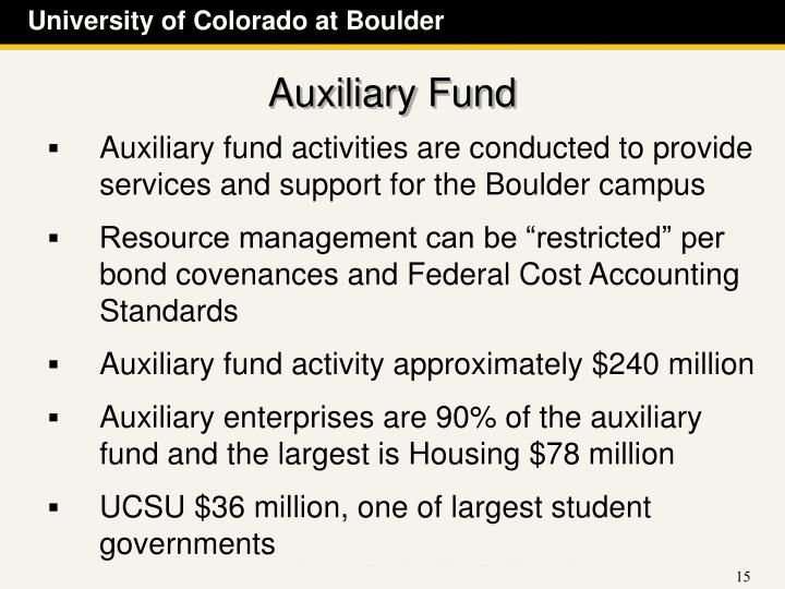Auxiliary Fund