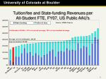 tuition fee and state funding revenues per all student fte fy07 us public aau s