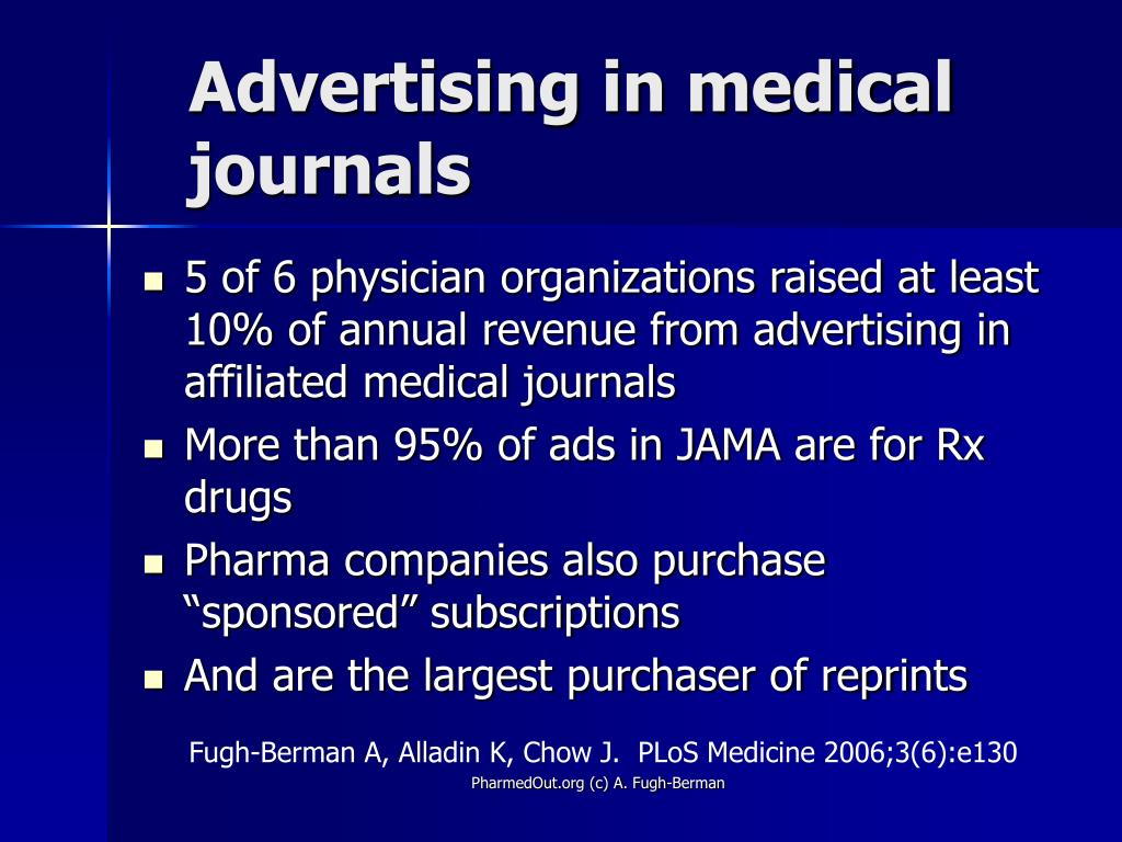 Advertising in medical journals