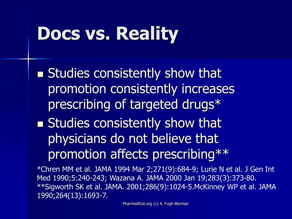 Docs vs. Reality