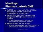 meetings pharma controls cme