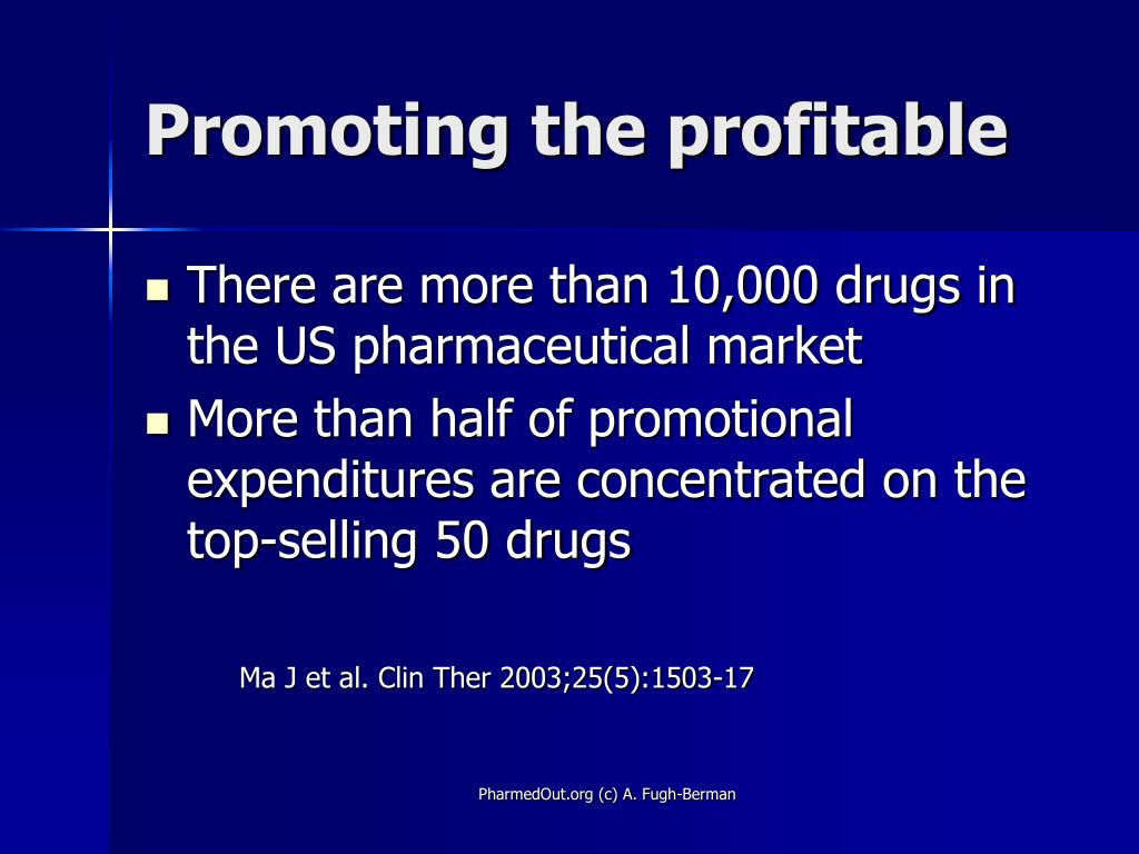 Promoting the profitable