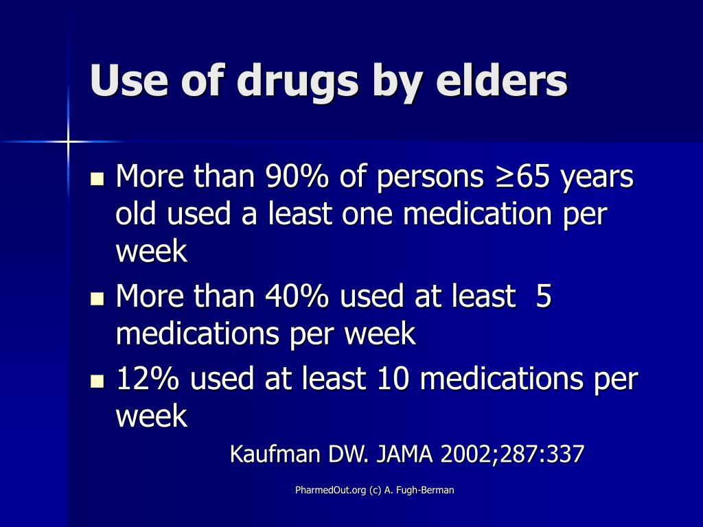 Use of drugs by elders