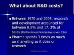 what about r d costs