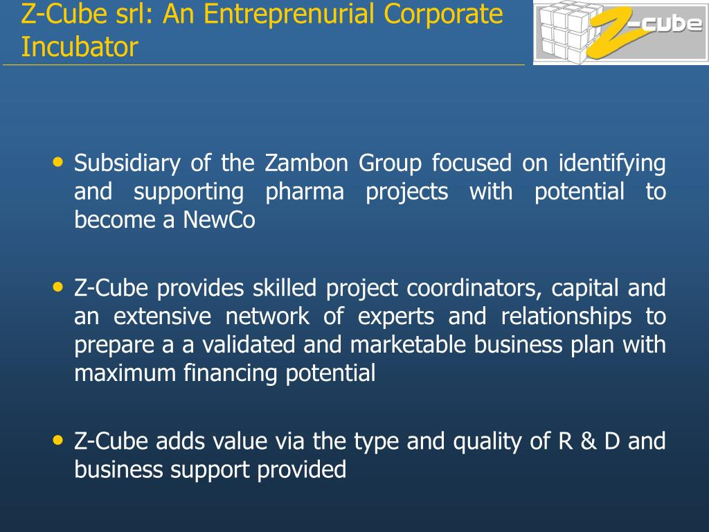 Subsidiary of the Zambon Group focused on identifying and supporting pharma projects with potential to become a NewCo
