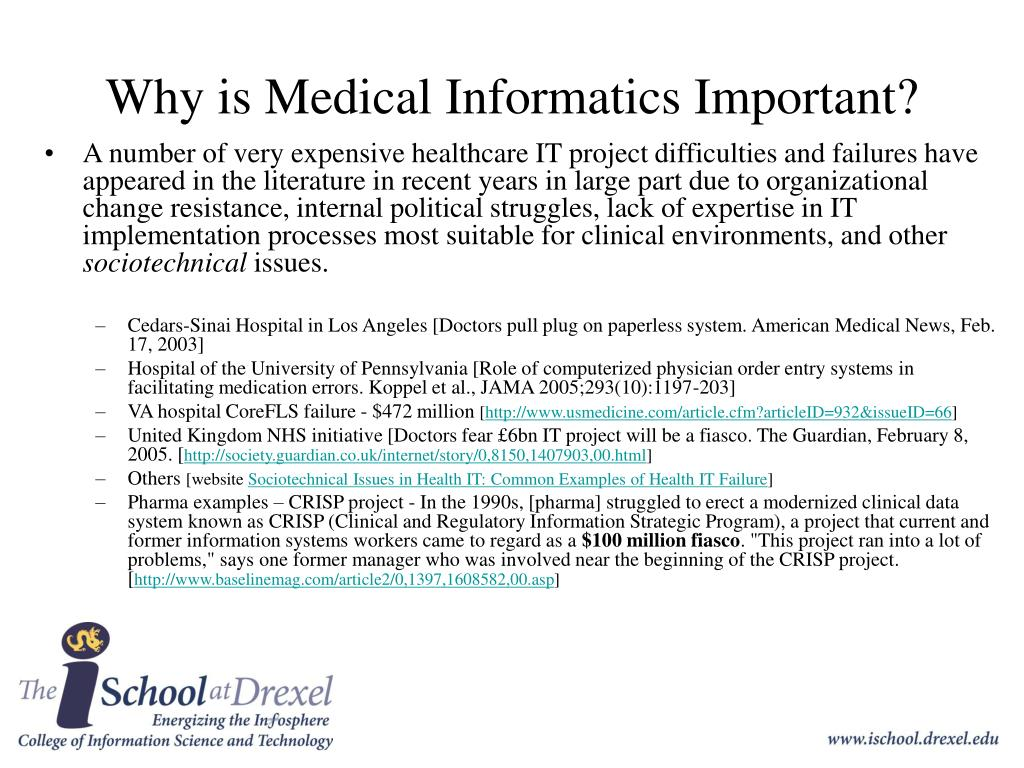 Why is Medical Informatics Important?