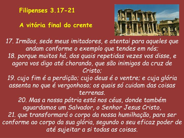 Filipenses 3.17-21