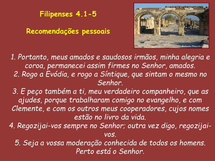 Filipenses 4.1-5