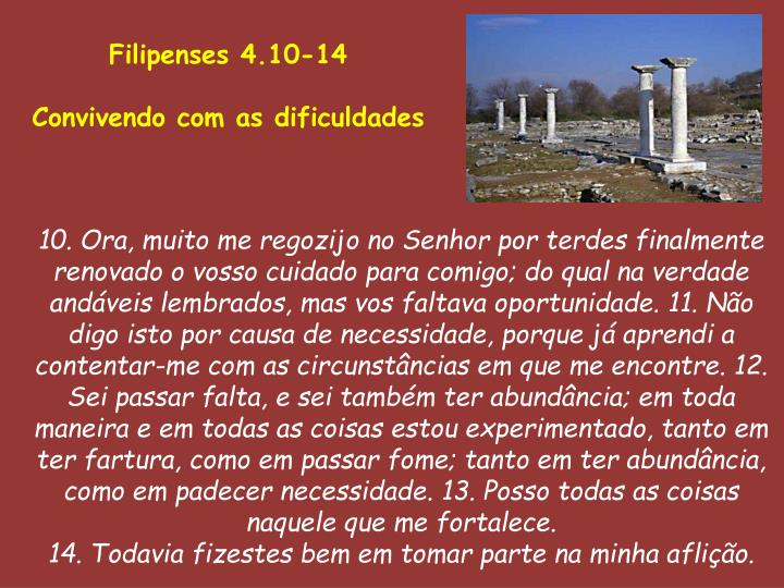 Filipenses 4.10-14