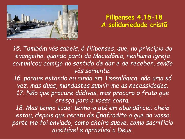Filipenses 4.15-18