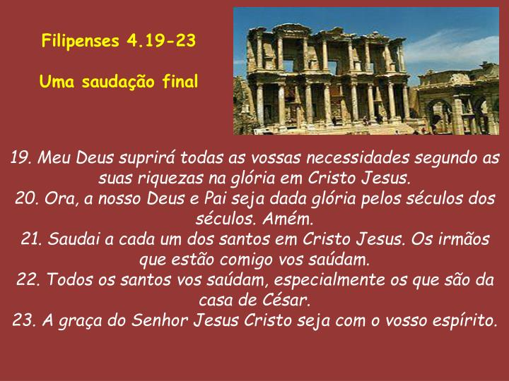 Filipenses 4.19-23