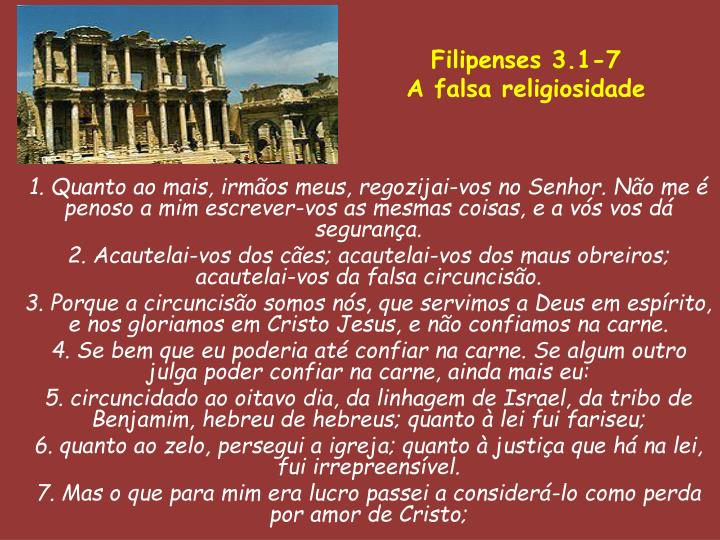 Filipenses 3.1-7
