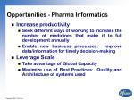 opportunities pharma informatics
