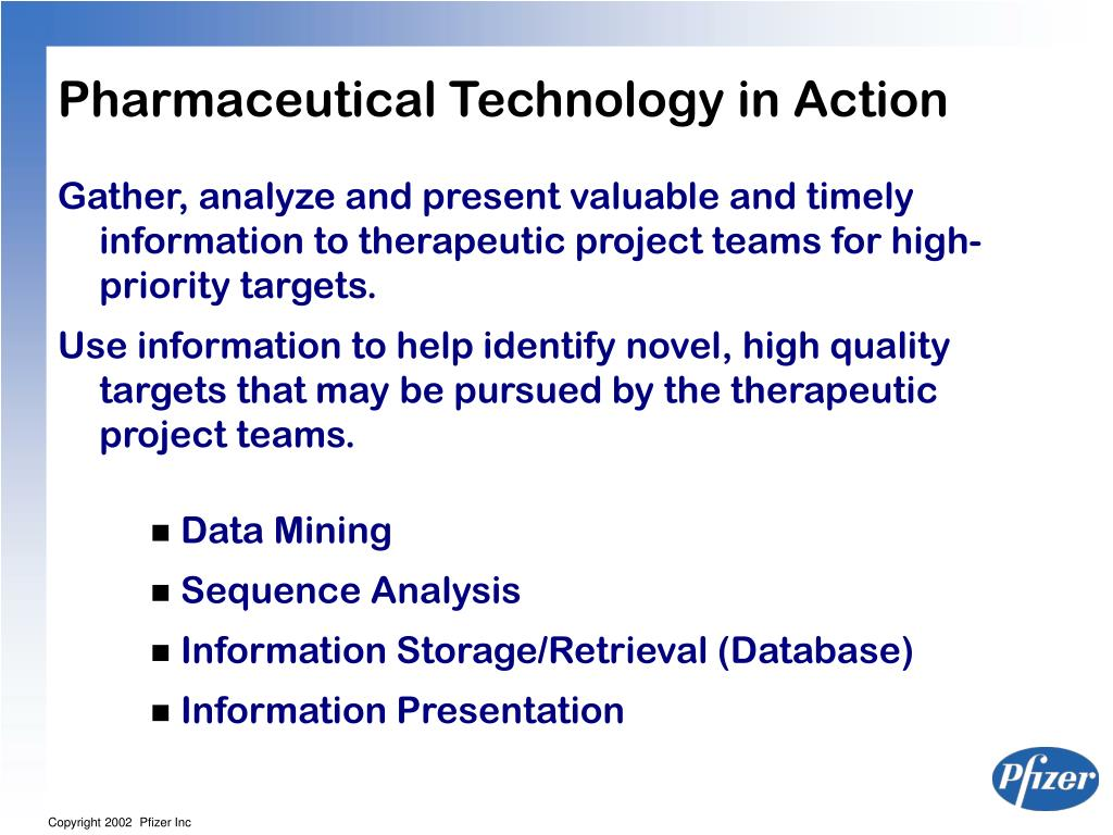 Pharmaceutical Technology in Action