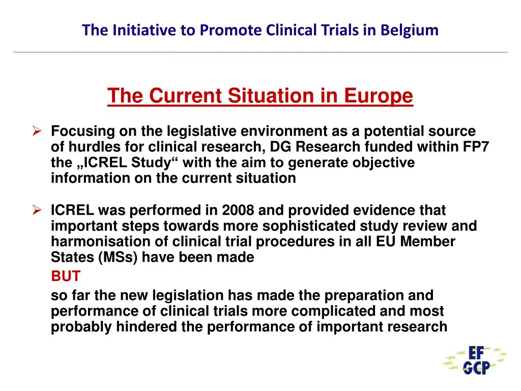 The Initiative to Promote Clinical Trials in Belgium