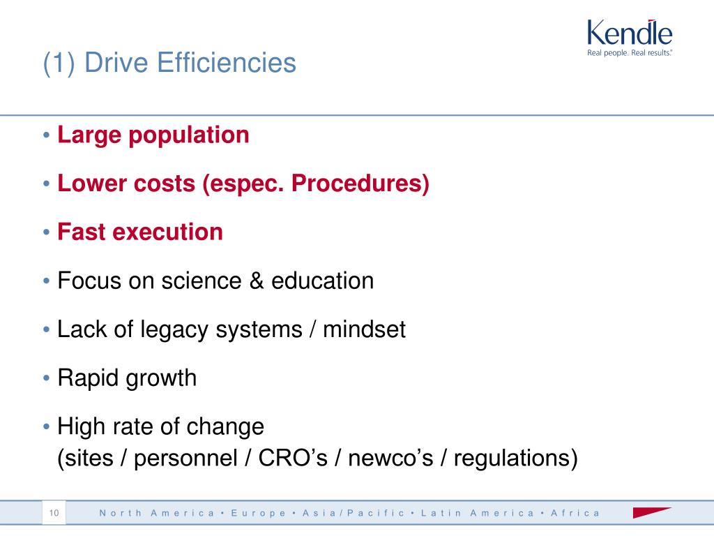(1) Drive Efficiencies