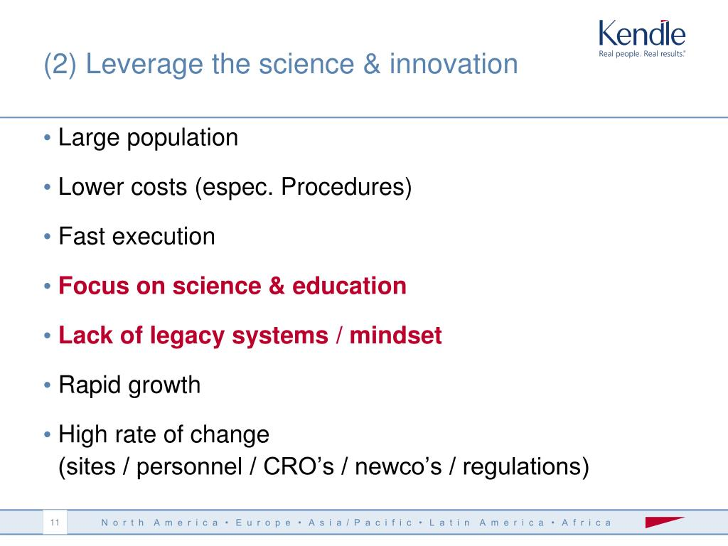 (2) Leverage the science & innovation