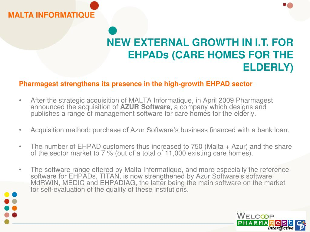 Pharmagest strengthens its presence in the high-growth EHPAD sector