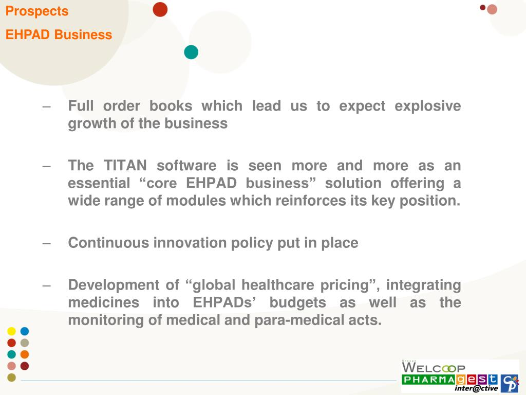 Full order books which lead us to expect explosive growth of the business