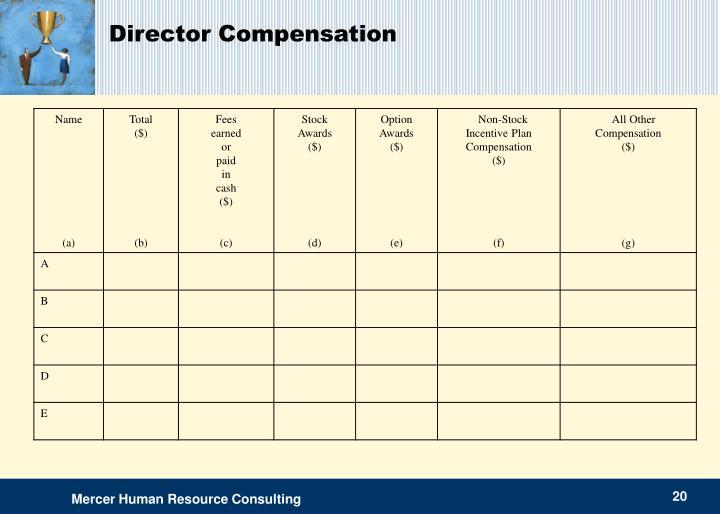 Director Compensation