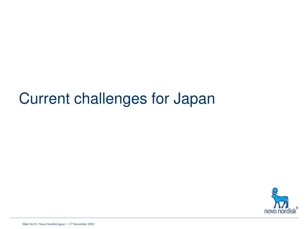 Current challenges for Japan