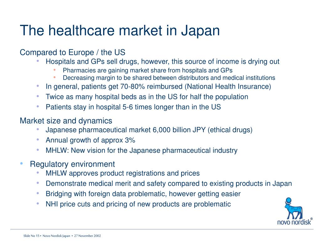 The healthcare market in Japan