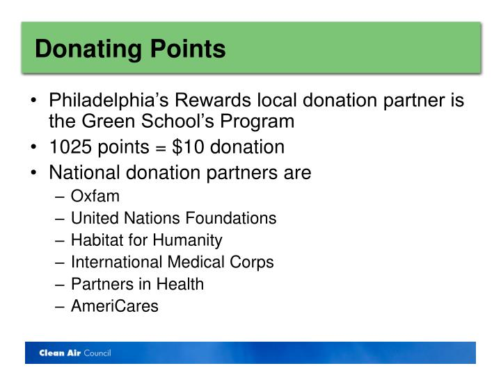 Donating Points