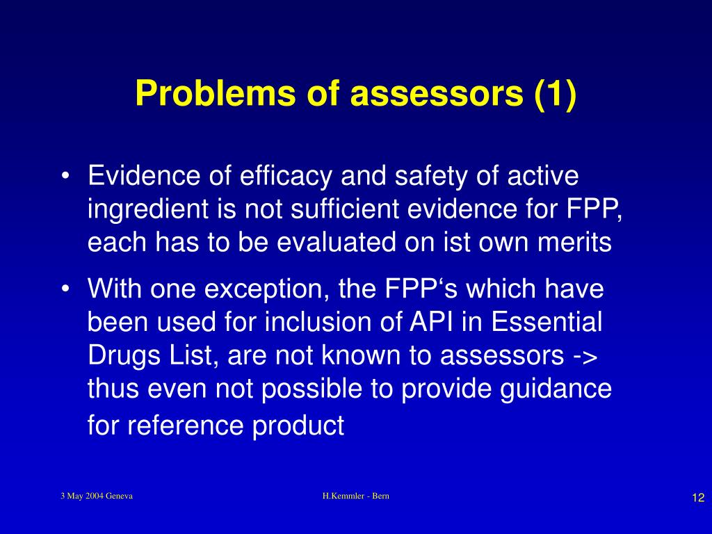 Problems of assessors (1)