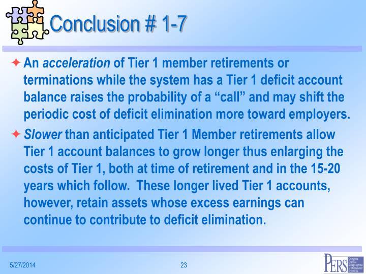 Conclusion # 1-7