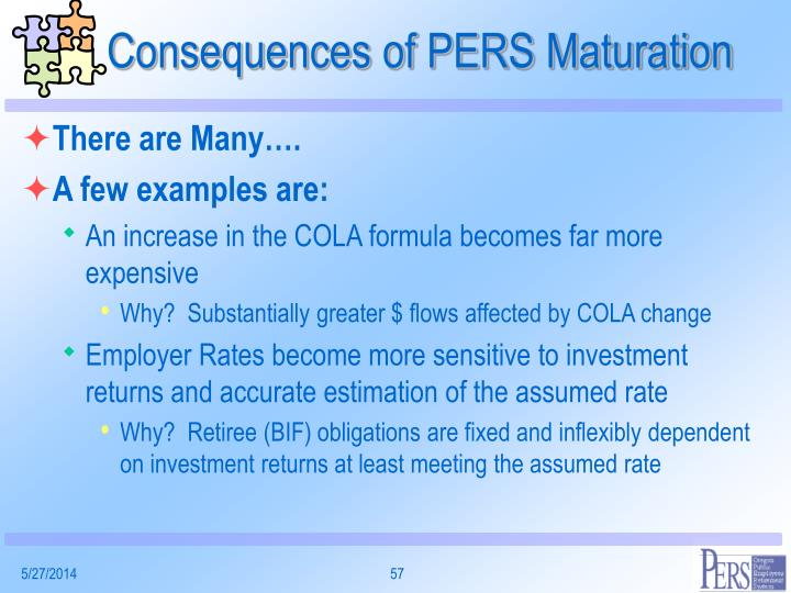 Consequences of PERS Maturation