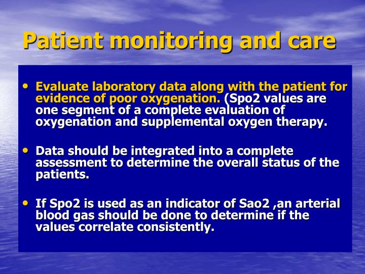 Patient monitoring and care