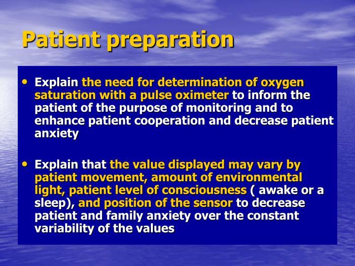 Patient preparation