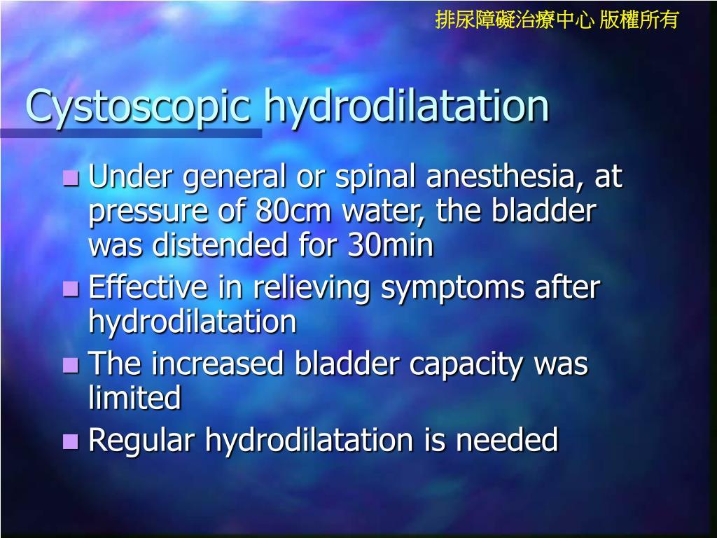 Cystoscopic hydrodilatation